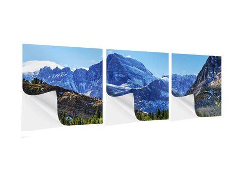 Panorama Klebeposter 3-teilig Dem Gipfel entgegen