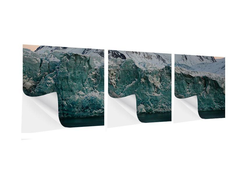Panorama Klebeposter 3-teilig Die Antarktis
