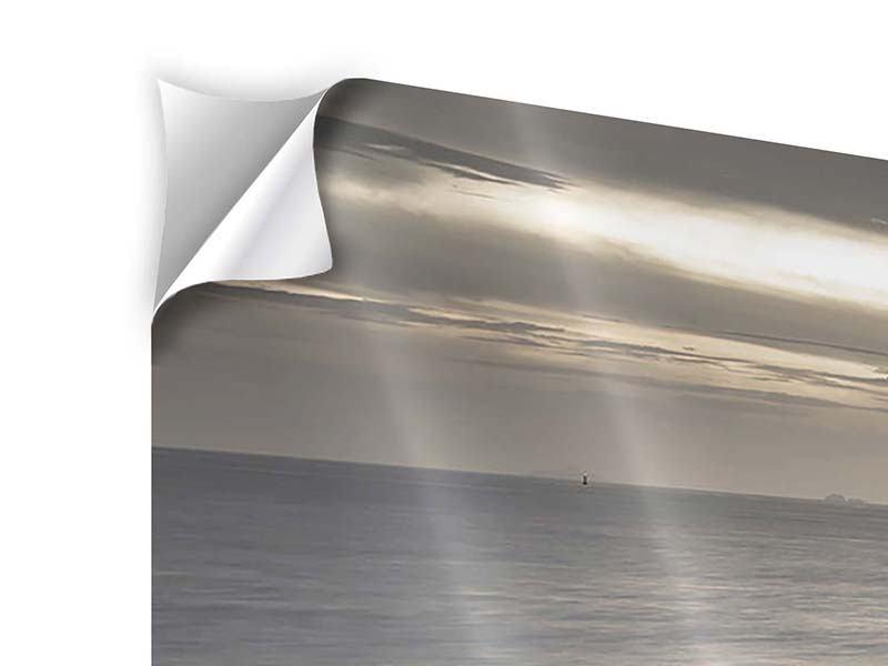 Panorama Klebeposter 3-teilig Das Meer und die Träne