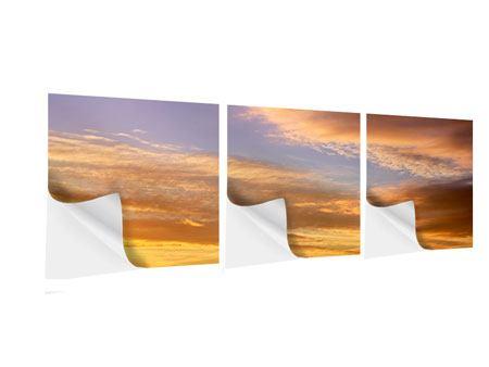 Panorama Klebeposter 3-teilig Himmlisch