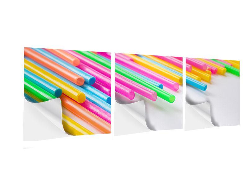 Panorama Klebeposter 3-teilig Pop Art