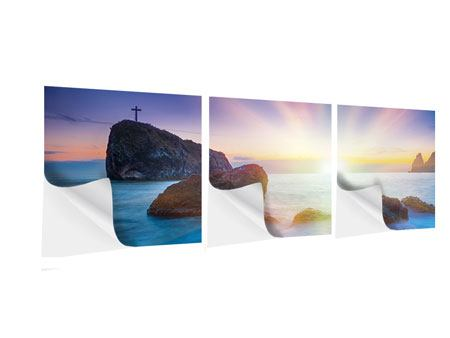 Panorama Klebeposter 3-teilig Mystisches Meer