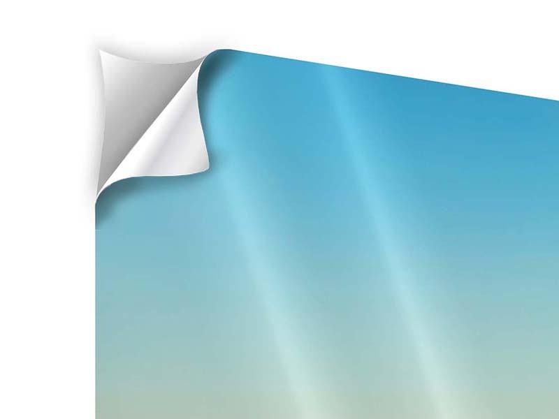 Panorama Klebeposter 3-teilig Dämmerung über den Wolken