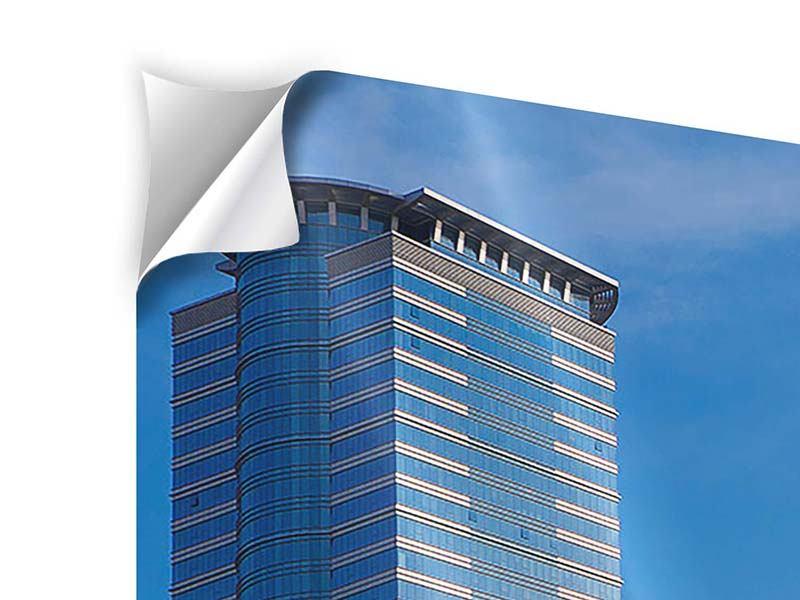 Panorama Klebeposter 3-teilig Zwei Wolkenkratzer
