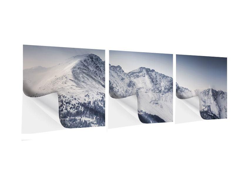 Panorama Klebeposter 3-teilig Die Berge der Schweiz