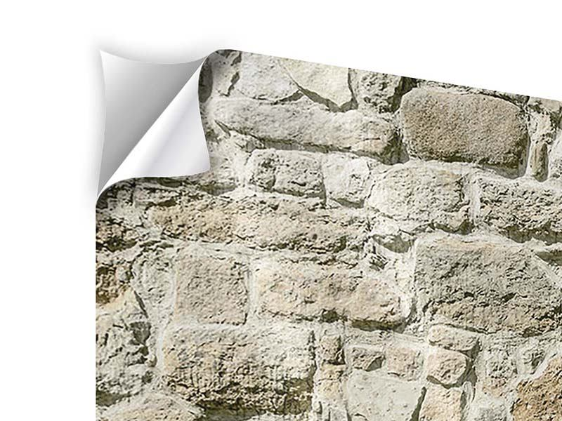 Panorama Klebeposter 3-teilig Naturmauer