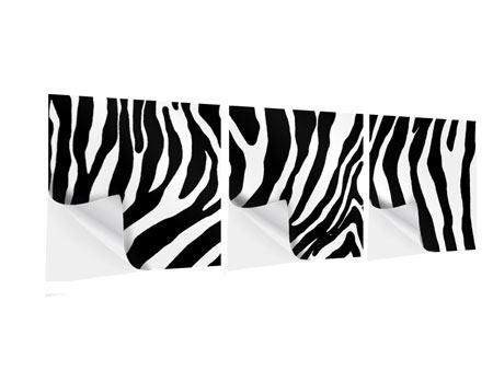 Panorama Klebeposter 3-teilig Zebramuster