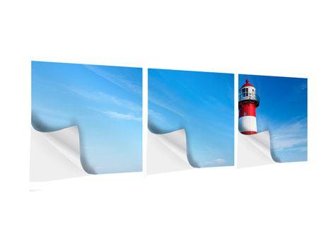 Panorama Klebeposter 3-teilig Der Leuchtturm