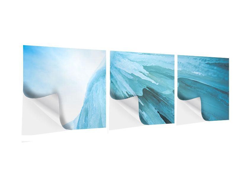 Panorama Klebeposter 3-teilig Die Eiswand