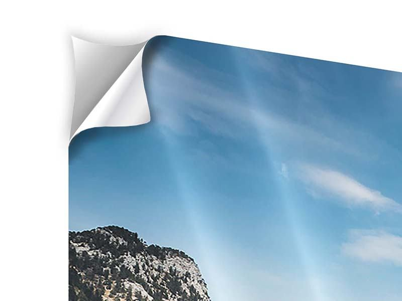 Panorama Klebeposter 3-teilig Der idyllische Bergsee