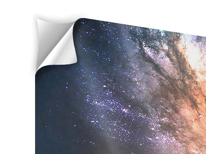 Panorama Klebeposter 3-teilig Universus