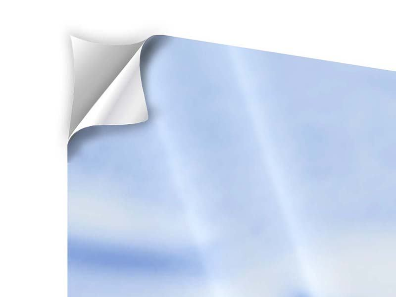 Panorama Klebeposter 3-teilig Eiswürfel