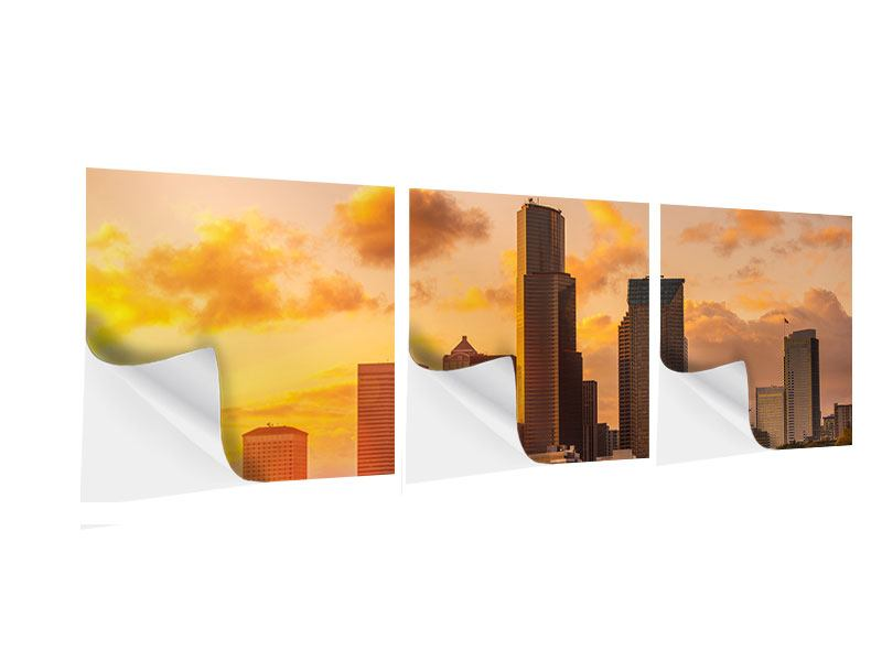 Panorama Klebeposter 3-teilig Skyline Washington
