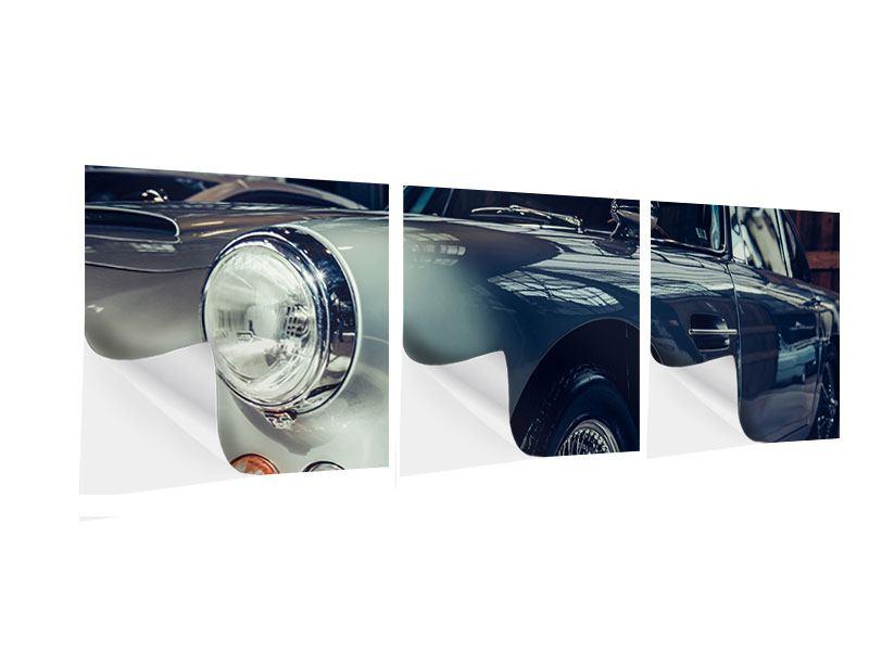Panorama Klebeposter 3-teilig Classic Car