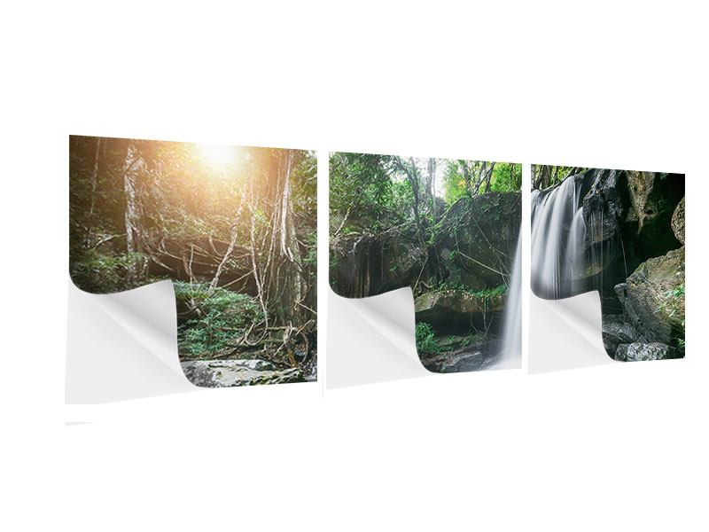 Panorama Klebeposter 3-teilig Naturschauspiel