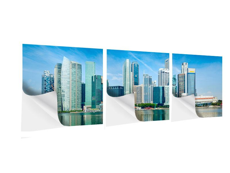 Panorama Klebeposter 3-teilig Skyline Mexiko-Stadt