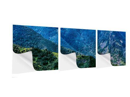 Panorama Klebeposter 3-teilig Die Berglandschaft