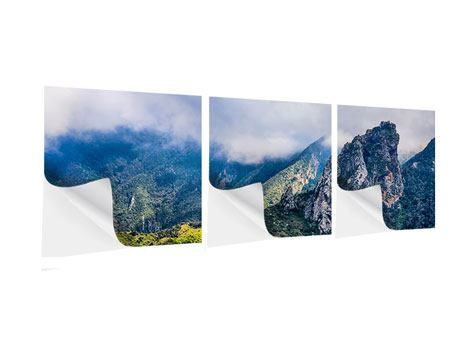 Panorama Klebeposter 3-teilig Der stille Berg