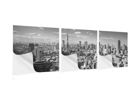 Panorama Klebeposter 3-teilig Tokio