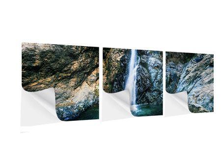Panorama Klebeposter 3-teilig Bewegtes Wasser