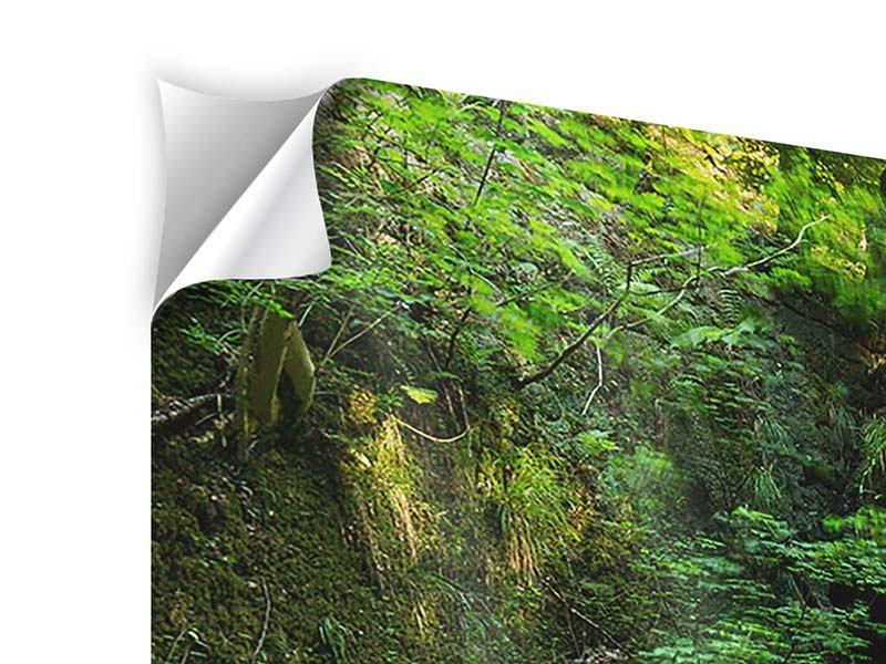 Panorama Klebeposter 3-teilig Fallendes Wasser