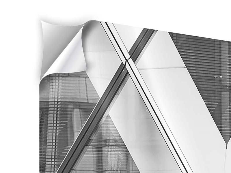 Panorama Klebeposter 3-teilig Teil eines Wolkenkratzers