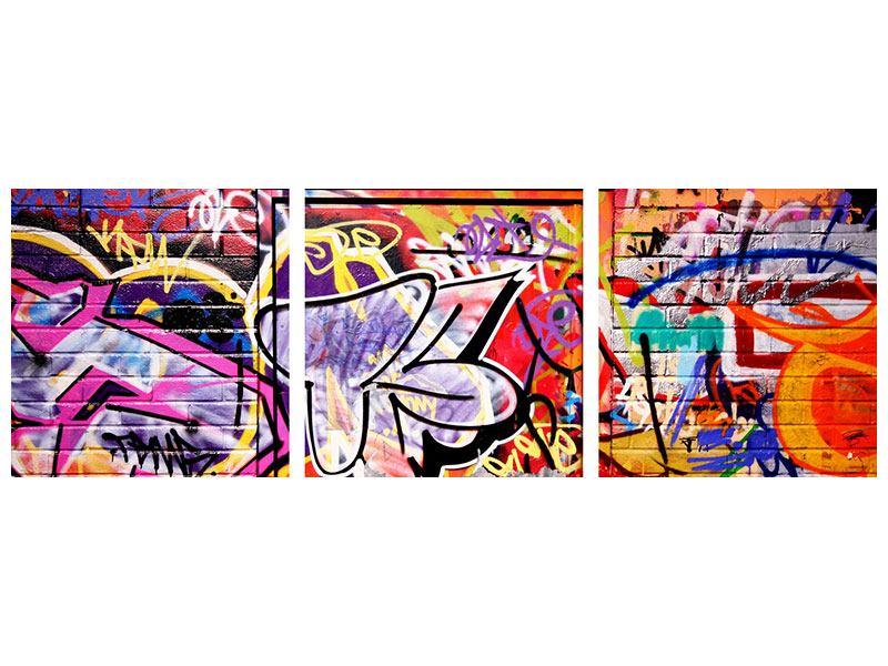 Panorama Klebeposter 3-teilig Graffiti Kunst