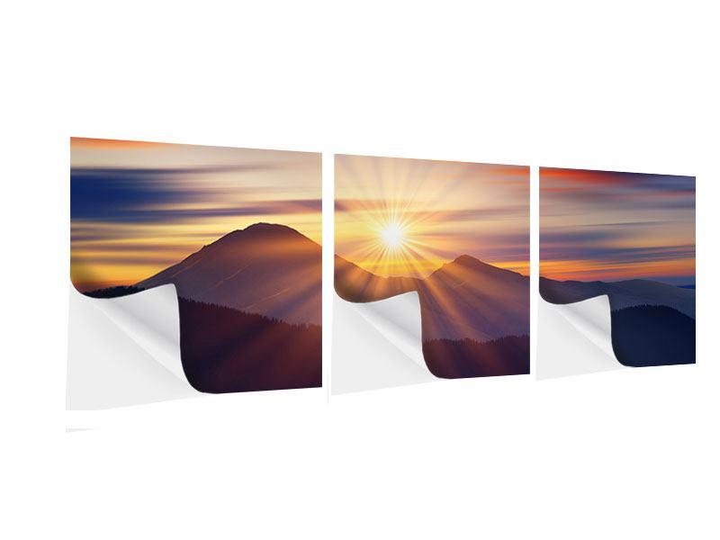Panorama Klebeposter 3-teilig Märchenhafte Landschaft