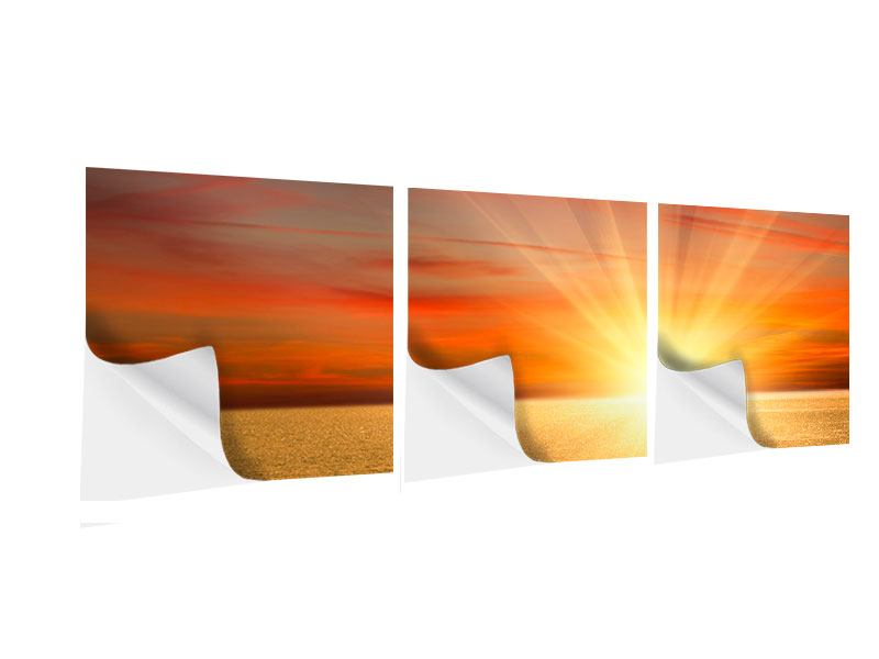 Panorama Klebeposter 3-teilig Der Sonnenuntergang