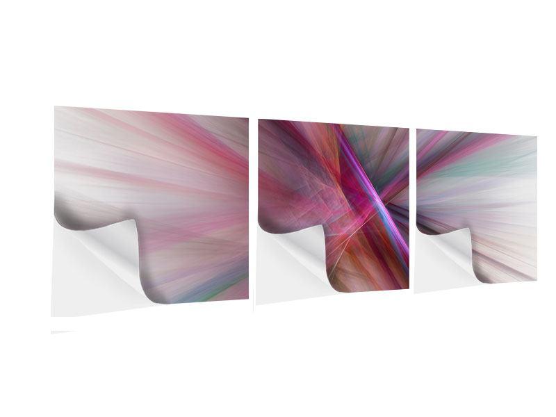 Panorama Klebeposter 3-teilig Abstraktes Lichterleuchten