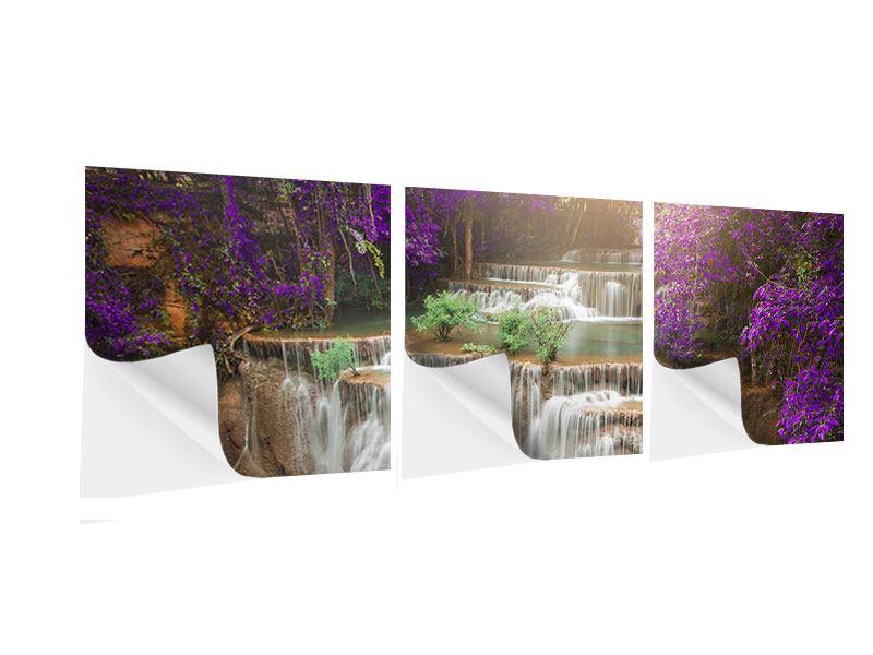 Panorama Klebeposter 3-teilig Garten Eden