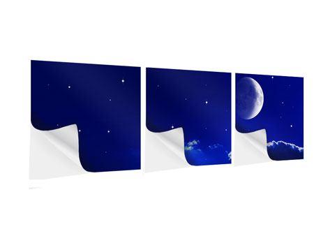 Panorama Klebeposter 3-teilig Der Nachthimmel