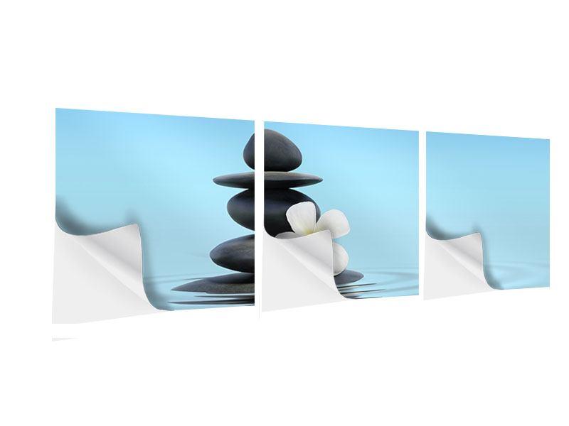 Panorama Klebeposter 3-teilig Zen Steine
