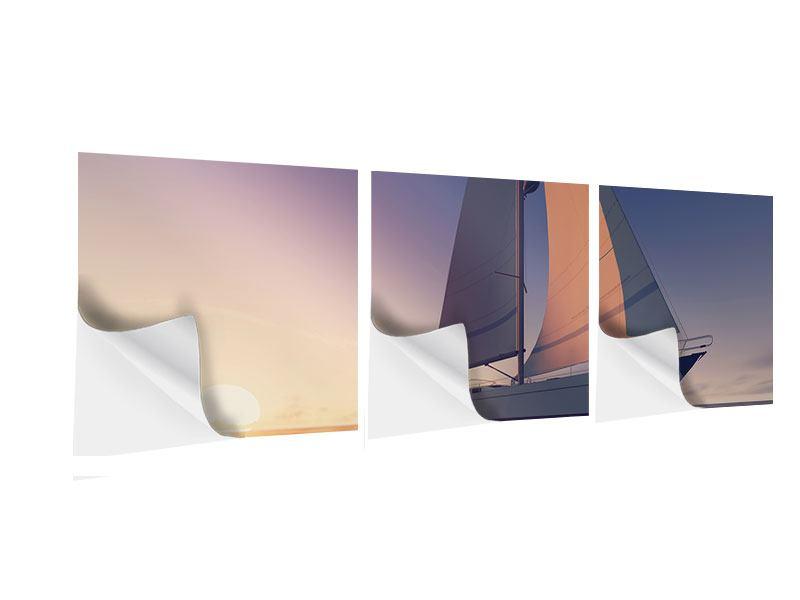 Panorama Klebeposter 3-teilig Das Segelschiff
