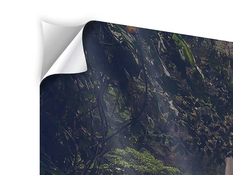 Panorama Klebeposter 3-teilig Wasserfall in Mexiko