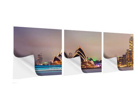 Panorama Klebeposter 3-teilig Opera House