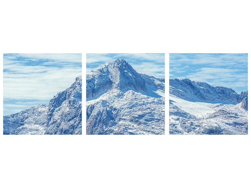 Panorama Klebeposter 3-teilig Friedliche Bergstimmung