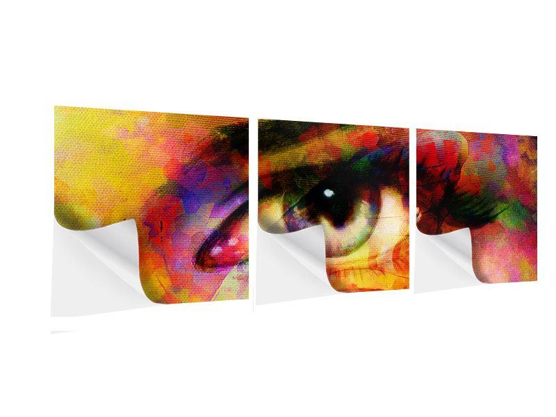 Panorama Klebeposter 3-teilig Das Auge
