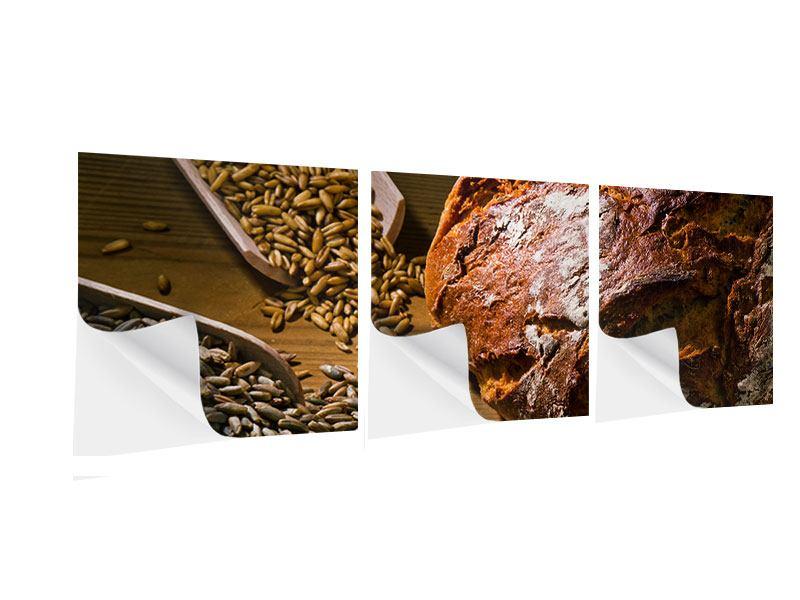 Panorama Klebeposter 3-teilig Das Brot