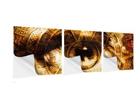 Panorama Klebeposter 3-teilig Fraktales Auge