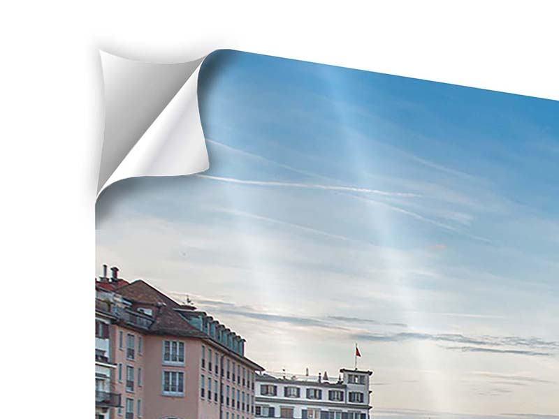 Panorama Klebeposter 3-teilig Kosmopolitisches Zürich