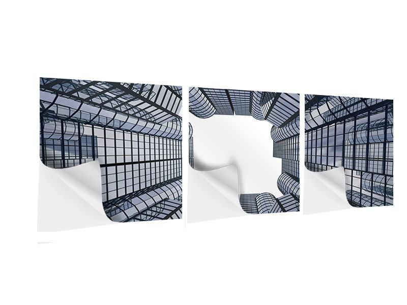 Panorama Klebeposter 3-teilig Besondere Perspektive