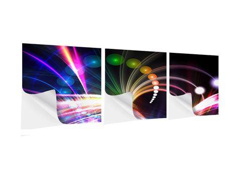 Panorama Klebeposter 3-teilig Abstrakte Lichtreflexe