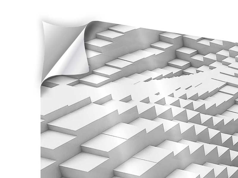 Panorama Klebeposter 3-teilig 3D-Elemente