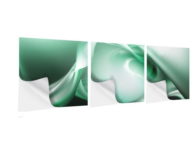 Panorama Klebeposter 3-teilig Abstrakt Tuchfühlung
