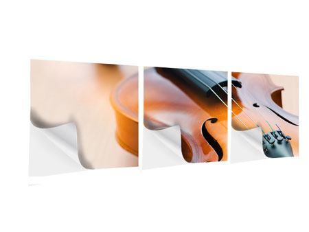 Panorama Klebeposter 3-teilig Geige