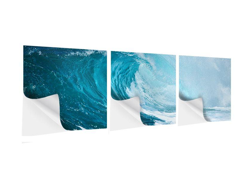 Panorama Klebeposter 3-teilig Die perfekte Welle