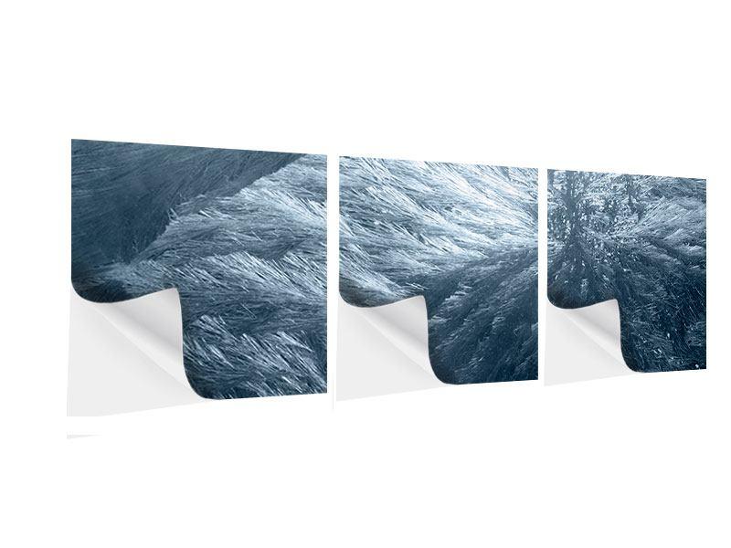 Panorama Klebeposter 3-teilig Eis