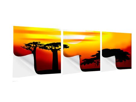 Panorama Klebeposter 3-teilig Faszination Afrika