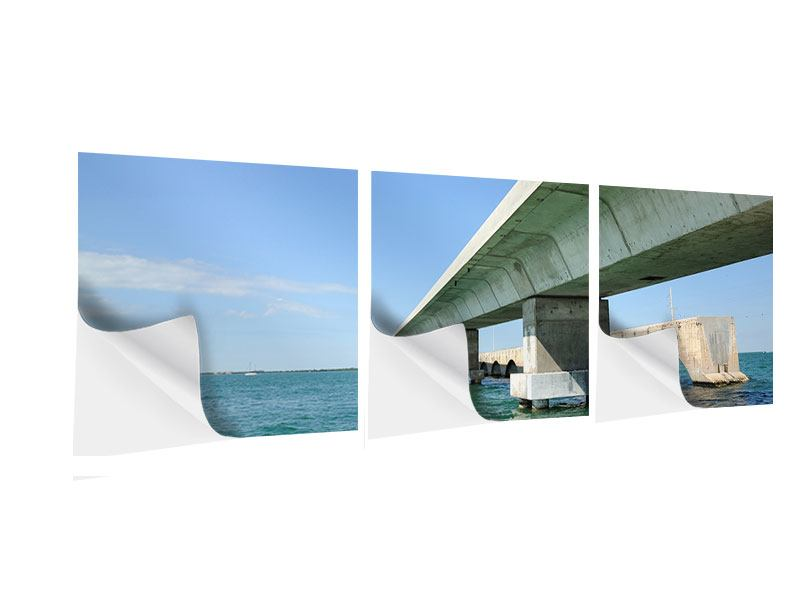Panorama Klebeposter 3-teilig Seven Mile Bridge